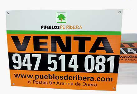 Carteles para inmobiliarias Polipropileno 3 tintas