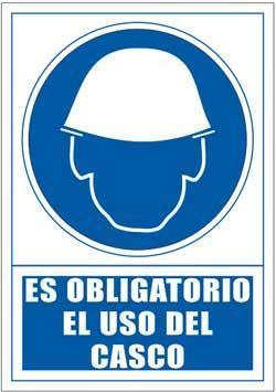 Señales PVC - Uso obligatorio de casco