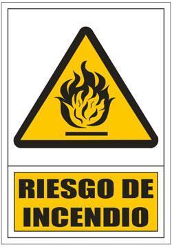 Señales PVC - Riesgo incendio